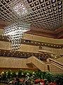 HK Cultural Centre 香港文化中心 interior ceiling lamp n visitors Feb-2013.JPG