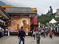 HK Ngon Ping Village 昂坪市集 mkt (20) shop Walking with Tian Tan Buddha side face April 2016 DSC.JPG