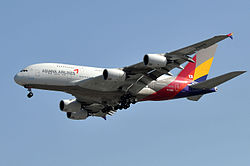 Airbus A380-800 der Asiana Airlines