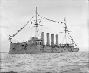 HMS Sutlej (1899) - Image: HMS Sutlej 1903 IWM Q 21808