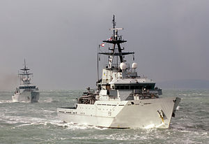 HMS Tyne Leads Other Severn Class Fishery Patrol Vessels During Exercise MOD 45152274.jpg