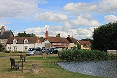 Haddenham duck pond and cottages-geograph-3576303-by-Roger-Davies.jpg