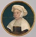 Hans Holbein d. J., , Kunsthistorisches Museum Wien, Gemäldegalerie - Die Frau eines Hofbediensteten König Heinrichs VIII. - GG 6272 - Kunsthistorisches Museum.jpg