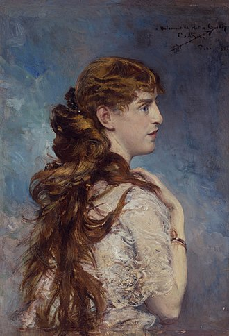 Charles Crocker - Painting of Crocker's daughter, Harriet, by Giovanni Boldini, 1887