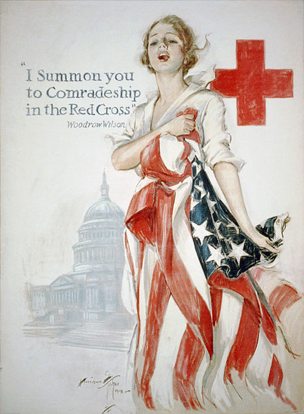 Fichier:Harrison Fisher WWI American Red Cross poster.jpg