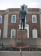 Harry S. Truman statue -Independence, Jackson County, Missouri, USA-18Jan2009