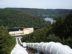 Una condotta forzata in una moderna centrale idroelettrica