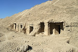 El Hawawish - Rock tombs at El Hawawish