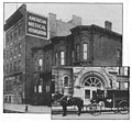 Headquarters of the American Medical Association, 1905. Inset-Presbyterian Hospital ambulance, 1904.jpg