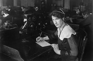 National League for Women's Service - Helen Campbell, a wireless operator was recruited by the National League for Women's Service, a World War I government program to use women to fill jobs vacated by men drafted into the military. 1917.