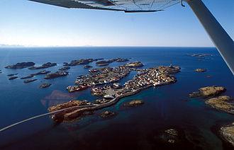 Henningsvær - Aerial view of the village