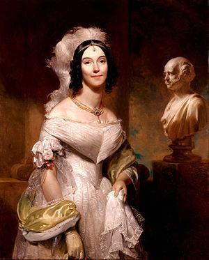 Angelica Singleton Van Buren - Van Buren's White House Portrait (1840)