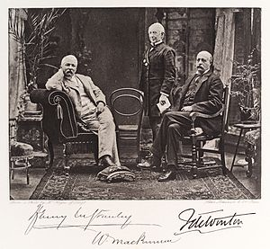 Sir William Mackinnon, 1st Baronet - William Mackinnon (middle) with H.M. Stanley and F. de Winton