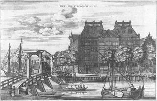 Het West-Indisch Pakhuis op Rapenburg in Amsterdam, gebouwd in 1642