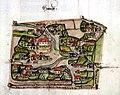 Heudorf bei Messkirch um 1575 Haufendorf.jpg