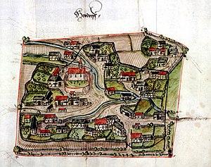 Haufendorf - The Haufendorf of Heudorf bei Meßkirch around 1575