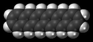 Hexacene - Image: Hexacene molecule spacefill