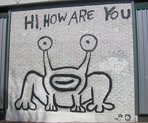 Daniel Johnston - Image: Hi How Are You Austin 2005