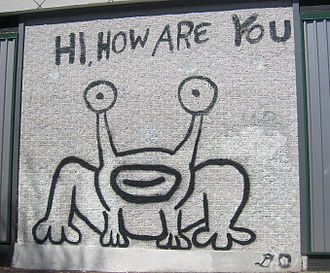 Outsider music - A mural in Austin, Texas dedicated to the outsider musician Daniel Johnston.