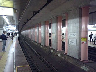 Hibiya Station - Hibiya Line platforms