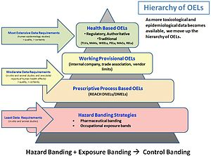 Occupational exposure limit - Hierarchy of occupational exposure limits (OELs)