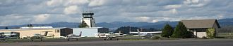 Hillsboro Airport - Planes and the control tower