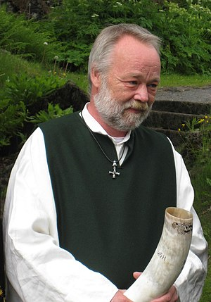 Ásatrúarfélagið - Hilmar Örn Hilmarsson, fourth allsherjargoði, at a ceremony in June 2009
