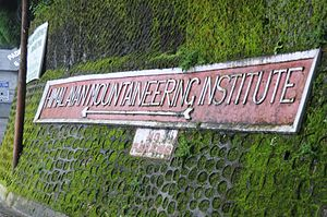 Himalayan Mountaineering Institute - Signage near Himalayan Mountaineering Institute, Darjeeling, India.