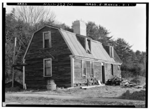 Historic American Buildings Survey Frank O. Branzetti, Photographer December 24, 1940 (a) EXT.-GENERAL VIEW LOOKING NORTHEAST - Ma'm Lee Cottage, 39 Forest Street, Manchester, HABS MASS,5-MANCH,2-1.tif