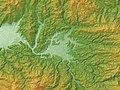 Hita Basin Relief Map, SRTM-1.jpg