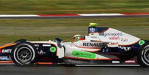 Ho-Pin Tung - Tung driving for Trident Racing at the Silverstone round of the 2008 GP2 Series season.