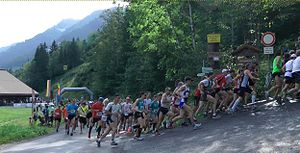 English: Mass Start of the Hochgrat Mountain R...