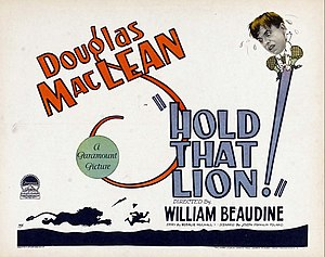 Hold That Lion (1926 film) - lobby card.
