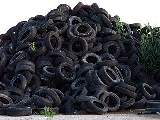 Tire recycling - Tires are among most problematic sources of waste. Progress in recycling has resulted in a major reduction in dumping.