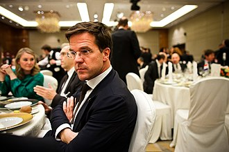 Close-up - Close-up of Dutch Prime Minister Mark Rutte