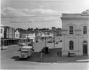 Hamilton, New Zealand - Hood Street in 1962.