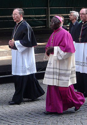Robert Sarah - Cardinal Sarah during the Procession of the Holy Blood in Brussels, Belgium, in 2009