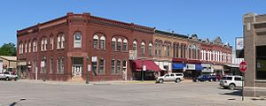 Hooper, Nebraska - Downtown Hooper: northwest corner of Main and Fulton