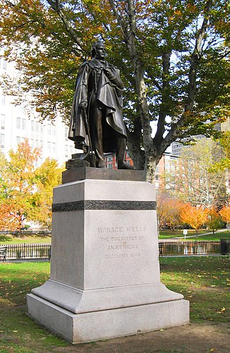 Horace Wells - Image: Horace Wells Monument, Hartford CT