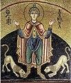 Hosios Loukas (diakonikon) - Daniel in the lions' den 01.jpg