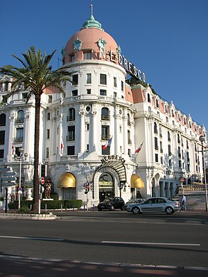 The Day of the Jackal (film) - Hotel Negresco in Nice where the Jackal learns his mission has been revealed.
