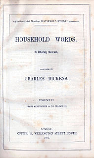 <i>Household Words</i> English weekly magazine edited by Charles Dickens in the 1850s