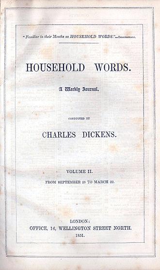 Richard Henry Horne - Image: Householdwordsvol 2