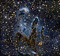 Hubble Goes High Def to Revisit the Iconic &-39;Pillars of Creation&-39; Messier 16 (The Eagle Nebula). Original from NASA. Digitally enhanced by rawpixel. (46351356301).jpg