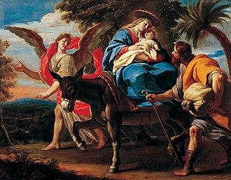 Antonio Palomino - Huida a Egipto ca. 1712 - 1714.