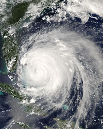 Hurricane Frances - Hurricane Frances over the Bahamas on September 3