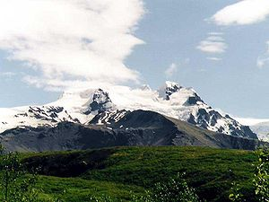 Paisagem de Hvannadalshnúkur