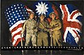 INF3-334 Unity of Strength American, Chinese and British soldiers with flags of their countries.jpg