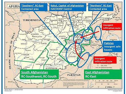 insurgent routes of infiltration from training camps in pakistan