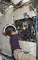 ISS-18 Sandra Magnus with the Combustion Integrated Rack.jpg